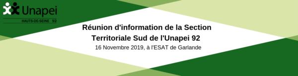 Réunion d'information organisée par la Section Territoriale Sud