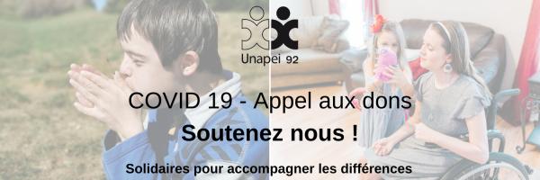 COVID 19 – Appel aux dons : soutenez l'Unapei 92 !