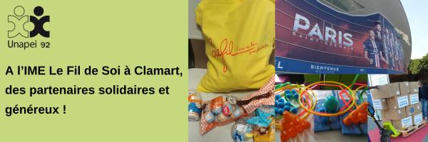 A l'IME Le Fil de Soi à Clamart, des partenaires solidaires et généreux !