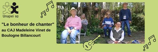 «Le bonheur de chanter» au CAJ Madeleine Vinet à Boulogne