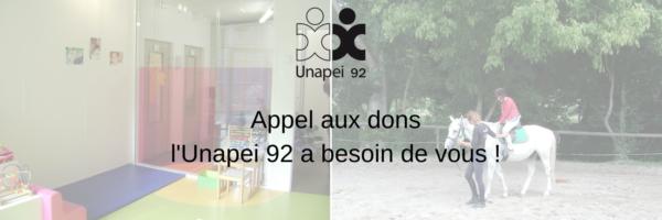 Appel aux dons : soutenez l'Unapei 92 !