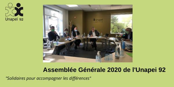 Assemblée Générale 2020 Unapei 92 : solidaires pour accompagner les différences