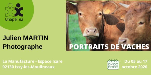 RDV en Octobre à la Manufacture Issy-les-Moulineaux… «Portraits de vaches», par Julien, photographe