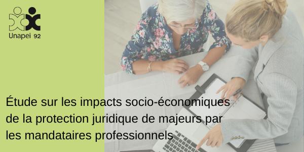 Étude sur les impacts socio-économiques de la protection juridique de majeurs par les mandataires professionnels