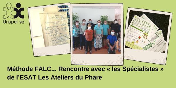 Méthode FALC… Rencontre avec «les Spécialistes» de l'ESAT Les Ateliers du Phare Unapei 92