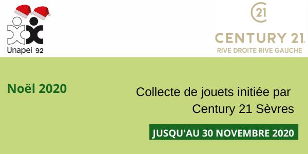 Noël 2020 : collecte de jouets organisée par Century 21 Sèvres