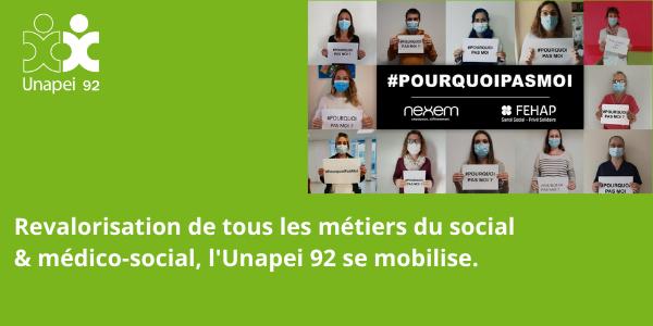 Reconnaissance & revalorisation de tous les métiers du social et du médico-social : l'Unapei 92 prend part à la mobilisation