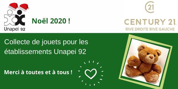 Noël solidaire avec Century 21 Sèvres
