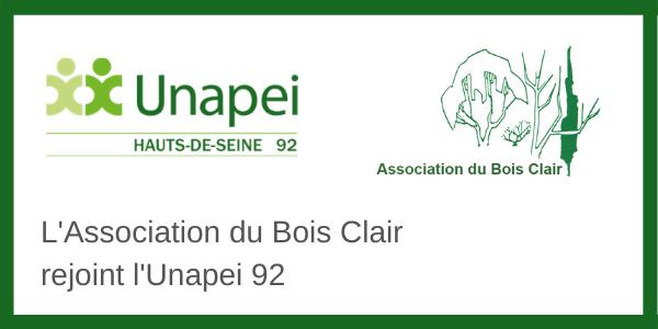 L'Association du Bois Clair rejoint l'Unapei 92