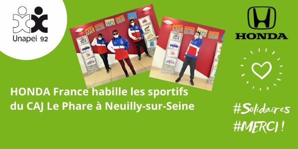 Honda France équipe les sportifs du CAJ Le Phare de Neuilly
