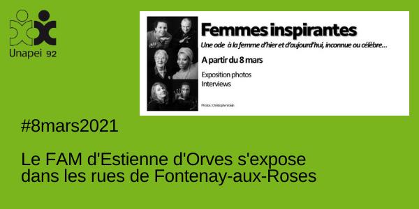 «Femmes inspirantes» à Fontenay-aux-roses, le FAM d'Estienne d'Orves prend part à l'expo !