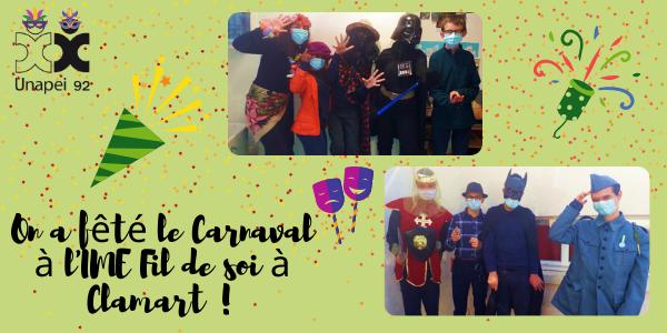 Carnaval à l'IME Fil de soi Unapei 92 à Clamart
