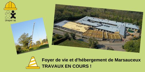 Foyer de vie et d'hébergement Unapei 92 de Marsauceux : visite de chantier !