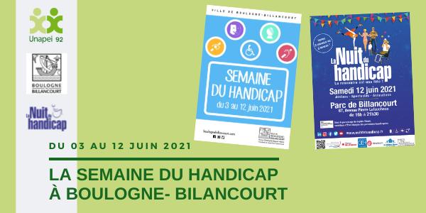 Semaine du handicap 2021 à Boulogne-Billancourt – Demandez le programme !