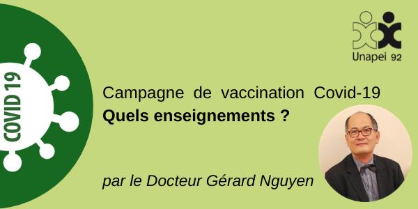 Campagne de vaccination Covid-19 : Quels enseignements ? par le Docteur Gérard Nguyen