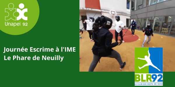 Tierce, esquive et parade… Journée Escrime à l'IME Le Phare Unapei 92 !