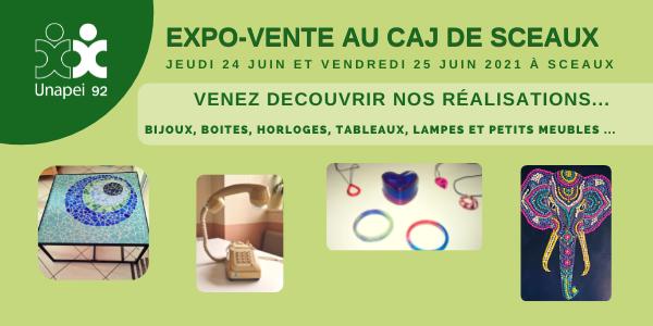 Expo Vente CAJ Unapei 92 à Sceaux : faites vous plaisir !