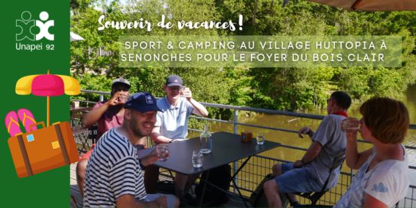 Sport & camping au Village Huttopia à Senonches pour le Foyer du Bois Clair