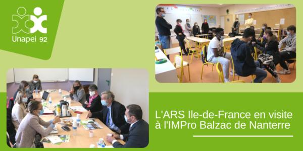 Une délégation de l'ARS Ile-de-France conduite par Mme Amélie Verdier, nouvelle Directrice Générale, en visite à l'IMPro Balzac à Nanterre.